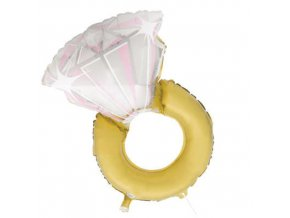 Foliový balonek Prsten diamond 81 cm