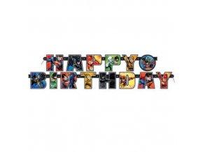 Narozeninový nápis Liga Spravedlnosti Happy Birthday 182 cm