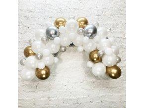 Sada na balonkovou girlandu Bílá - 3m