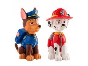 Figurka Paw Patrol Chase a Marshall 6cm - Dekora