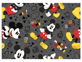 Balící papír Disney: MICKEY BLACK 2ks 100x70cm