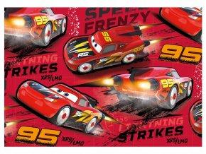 Balící papír Disney: CARS RED 2ks 100x70cm