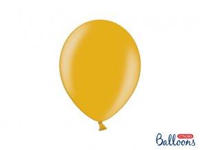 PartyDeco balónky zlaté metalické (10 ks)