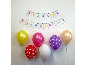 Party girlanda - Šťastné narozeniny - vlaječky - GR5077