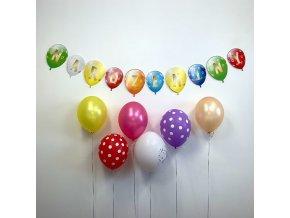 Party girlanda - Narozeniny - balónková girlanda - mix barev - GR5082