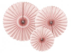 Dekorační rozety rose gold 26 až 43 cm - 3 ks
