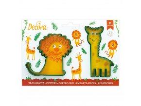 Vykrajováka lev a žirafa 2ks - Decora