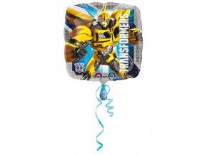 Foliový balonek čtverec - Transformers 45 cm