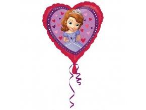 Foliový balonek srdce - Sofie První 43 cm