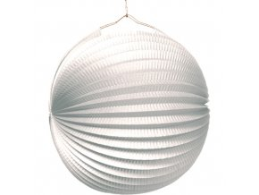 Lampion koule - bílý 25 cm