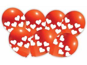 Alvarak Balónky červené se srdíčky (7 ks)