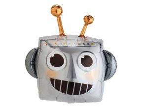 Foliový balonek Robotí hlava 88 cm