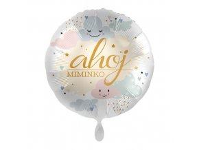 Foliový balonek Ahoj miminko CZ 43 cm