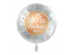 Foliový balonek Díky za všechno CZ - 43cm