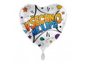 Foliový balonek Všechno nejlepší CZ - Komiks 43cm