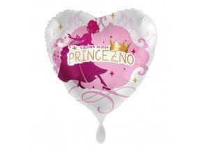 Foliový balonek Všechno nejlepší princezno CZ 43cm