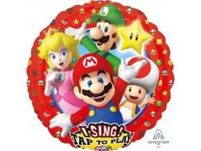 Foliový zpívající balonek Super Mario 71 cm