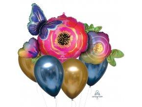 Sada balonků Květina a motýl - 5 ks