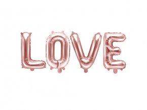 Foliový nápis LOVE v rose gold barvě 140 x 35 cm
