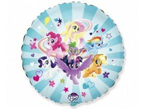 Foliový balonek My Little Pony - modrý 43 cm