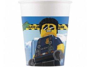 Papírové party kelímky Lego City 8 ks