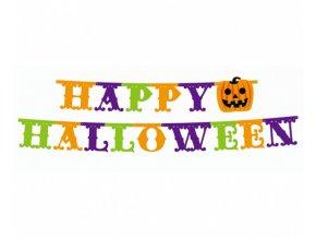 Party nápis Happy Halloween Maxi - 350 x 21 cm