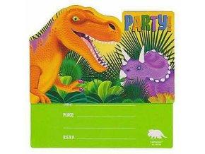 Party pozvánky Dinosauři - 8 ks