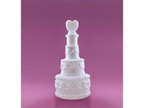 Svatební dekorace Bublifuk ve tvaru dortu (4 ks)