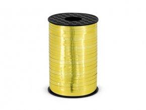 Vázací stuha zlatá metalická - 225 m