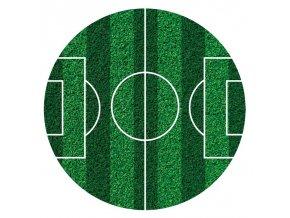 Dekora - fondánový list - fotbalové hřiště -16cm | DEKORA č. 231359