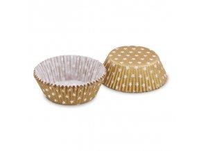 Cukrářské košíčky - zlatá hvězdička - 40ks