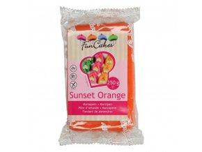 Vynikající marcipán oranžový 250g - FunCakes