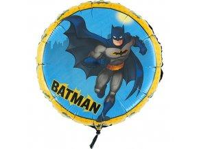 Foliový balonek Batman kulatý 45 cm - Nebalený