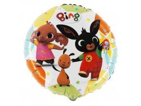 Foliový balonek Králíček Bing kulatý 45 cm - Nebalený