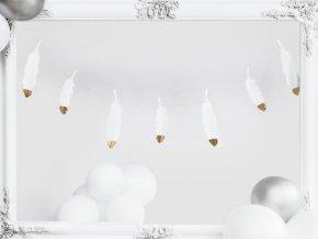 Girlanda Pírka bílo-zlatá 160 cm