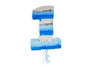 Piňata číslice 1 - modrá 50 x 35 x 7 cm