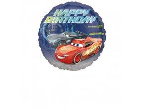Foliový balonek Cars - Happy Birthday 43 cm