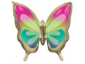 Foliový balonek motýl Tropical 76 x 71 cm