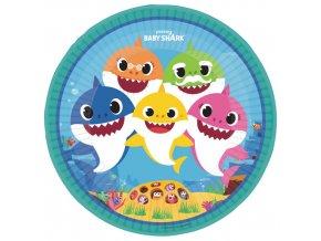 Papírové talíře Baby Shark 23 cm - 8 ks