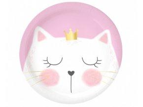 Papírové talíře Kočičí princezna 23 cm - 6 ks