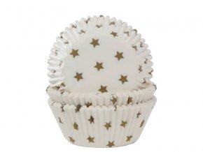Košíčky na muffiny zlaté hvězdy 50x33 mm - House of Marie