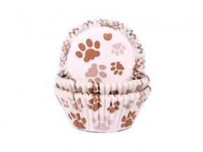Košíčky na muffiny hnědé tlapky 50x33 mm - House of Marie