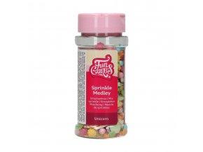 FunCakes Cukrové zdobení barevné Unicorn Medley (50 g)