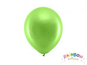 PartyDeco balónky zelené metalické 23 cm (10 ks)