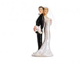 Svatební figurka Novomanželé otočení zády