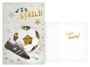 Narozeninové přání - Ať ti to střílí - Fotbal