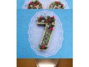 Dortová forma ve tvaru čísla - 7
