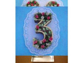 Dortová forma ve tvaru čísla - 3