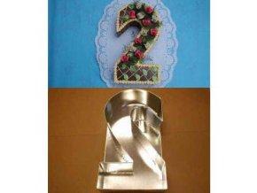 Dortová forma ve tvaru čísla - 2
