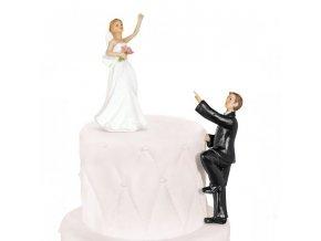 Svatební figurka Šplhající ženich